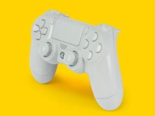 白いPS4コントローラー